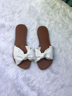 White Ribbon Sandals