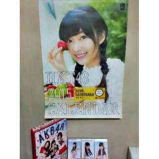 [📅Calendar📅]USED【HKT48 2015 B2 size school calendar】 (Wall Hanging) OFFICIAL