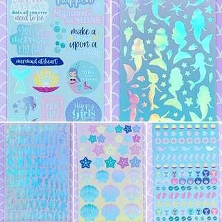 Scrapbook Foil Stickers