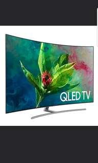 1 set Special Price!!! Samsung Brand New Curved 55Q8 QLED TV!! First come first serve!!