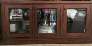 Oak wood cabinet