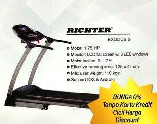 RICHTER Treadmill EXODUS S Cicil Harga Discount Bunga 0%
