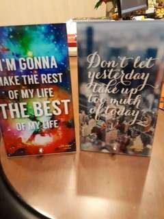 Inspirational table glass quotes