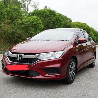 HONDA CITY 1.5 S SPEC (RUBY RED) FOR RENT