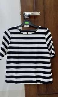 Crop Top garis(korea)