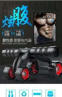 🚚 四輪車健腹器 有附瑜珈墊喔 練腹肌的好幫手