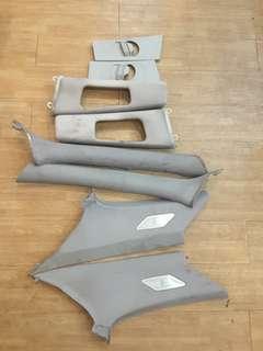 🚚 BMW E46  A B  C PILLAR PLASTIC COVERS