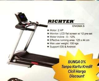 RICHTER Treadmill ENIGMA-S Cicil Harga.Discount Bunga 0%