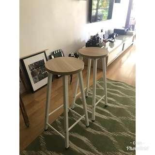 Wooden stool x 2