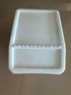 Ikea storage or recycling bin with lid