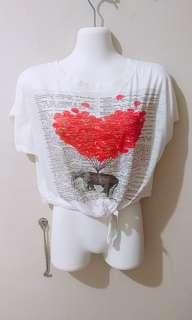BATWING HEART TOP