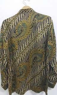 Kemeja batik silk lengan panjang 100% ORIGINAL by Iwan Tirta