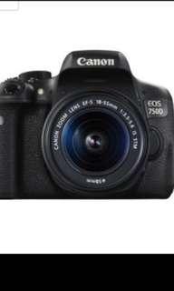 Canon EOS 750D Kit I 24.2 EF S 18-55mm III DC Black