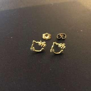 24K Vietnam Gold Plated Hello Kitty Earing