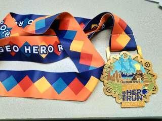 新創建 NWS 勇跑地貌王 Geo Hero Run Finisher medal 金屬紀念牌