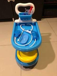 🚚 醫生玩具學步推車