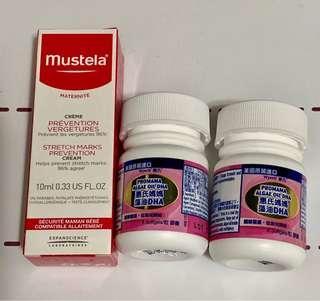 惠氏媽媽藻油DHA & Mustela 妊娠防紋膏