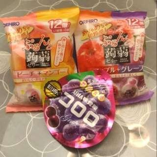 🚚 賣場最低價*3包才150元*日本ORIHIRO蒟蒻共24入+UHI味覺糖