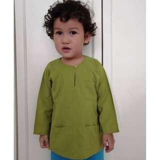 Baju Melayu baby (moss green)