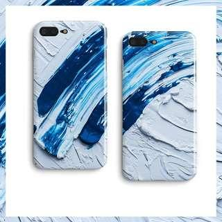🚚 [PO] Blue & White Paint iPhone Cover