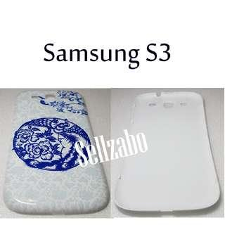 Battery Back Casings : Samsung Galaxy S3 Hp Handphone Sellzabo I9300 Holder Case Blue White Oriental Colour Ancient Chinese