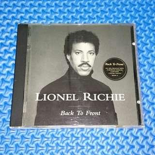 🆒 Lionel Richie - Back To Front [1992] Audio CD