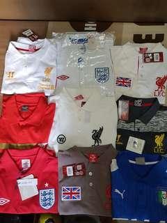 England, Liverpool, Italy , Arsenal Polo shirt
