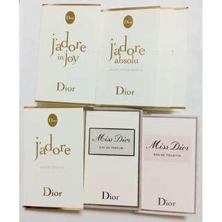 🚚 Dior 迪奧 J'Adore淡香水/愉悅淡香水/精萃香氛/揉香精露/MISS DIOR香氛 針管香水/淡香水 針管香水