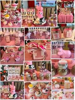 Pretty in Pink Barn Themed Candy Buffet