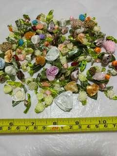 [Clearance/ Sales] Mini/ Small Colourful Rose/ Flower Patch Set for Cloth/ Bag/ Hair Clip etc - DIY/ Handmade/ Craft Accessories