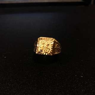 🆕Vietnam 24K Gold Plated Men / Gentlemen Adjustable Fortune Ring [福]  - Instock!!