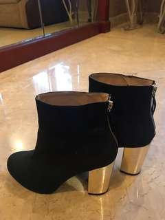 ZARA black ankle Boots Heels Shoes Size 39