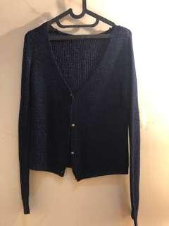 Dark blue sparkly cardigan