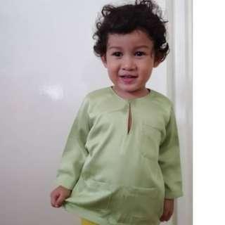 Baju Melayu Soft Green (6-24months)