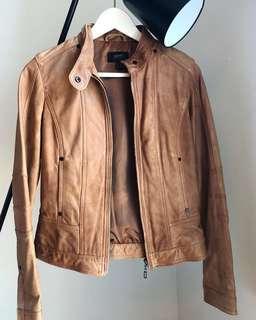 🚚 Esprit Collection Ladies Brown Leather Jacket