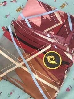 Jilbab segi empat (square) motif maroon NEW from Mizzhijab