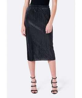 Forever New Sparkle Pleated Midi Skirt