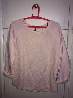 H&M Divided Baby Pink Rose Sweater/Pullover/Sweat Shirt