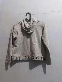 Sweater Hoodie Crop Top