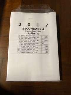 sec 4 a math express exam papers