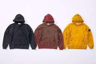 Supreme x Stone Island hooded sweatshirt(Red)