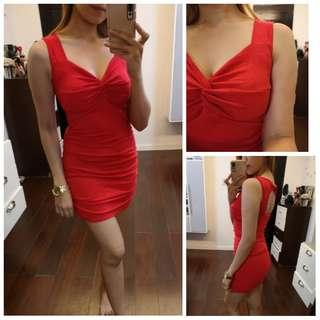Red Sexy Stretchable Dress