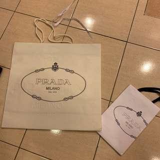 Authentic Prada Paper bag