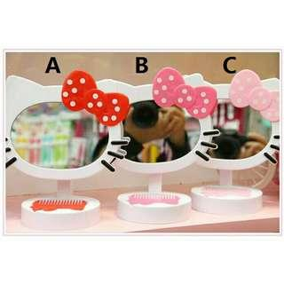 *FREE POST to West Malaysia only / Ready stock* Hello Kitty 22*17cm mirror each as shown in design / color. Free delivery is applied for this item.