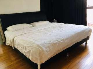 Faux Leather Bed Frame (King)