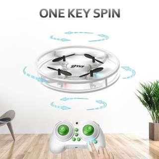 (2467) Dwi Dowellin Mini Drone for Kids Beginners Indoor RC Quadcopter 2.4Ghz 4CH 6-Axis Nano Drones RTF Helicopter D1 White