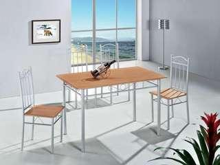 Beech affordable Dining table and four chairs