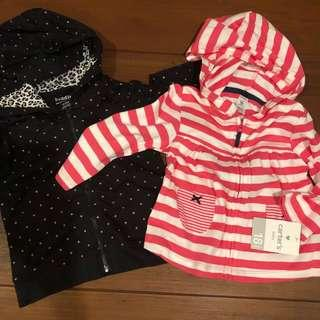 Carters hoodies 18m new