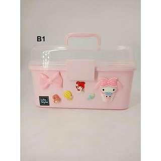 *FREE POST to West Malaysia only / Ready stock* Kids L size cute storage box each as shown in design doraemin, h kitty, melody / color. Free delivery is applied for this item. S & M size available too.