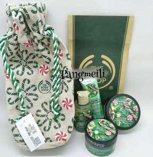 The body shop pepermint candy snack gift set